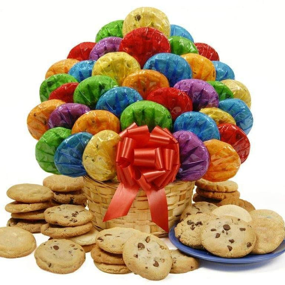 Happy Day Cookie Bouquet-48 - Fine Gifts La Bella Basket Company