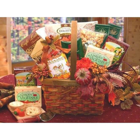Harvest Blessings Gourmet Fall Gift Basket - Fine Gifts La Bella Basket Company