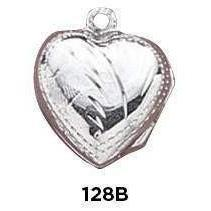 Heart Locket Sterling Silver Charm - Fine Gifts La Bella Basket Company