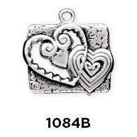 Hearts Cut Out Sterling Silver Charm - Fine Gifts La Bella Basket Company