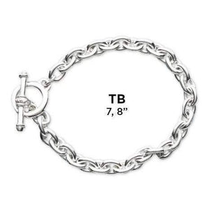 Heavy Sterling Silver Bracelet with Toggle - Fine Gifts La Bella Basket Company