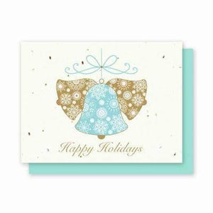 Holiday Bells Plantable Greeting Cards - 5 Pack - Fine Gifts La Bella Basket Company