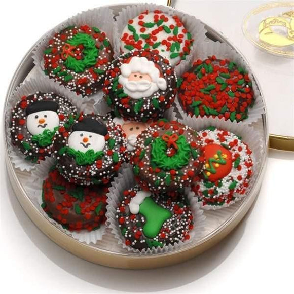 Holiday Oreo-16 Pcs  Send them a Wheel of Christmas Oreos® the next time you want to make a sweet impression for the Holidays!