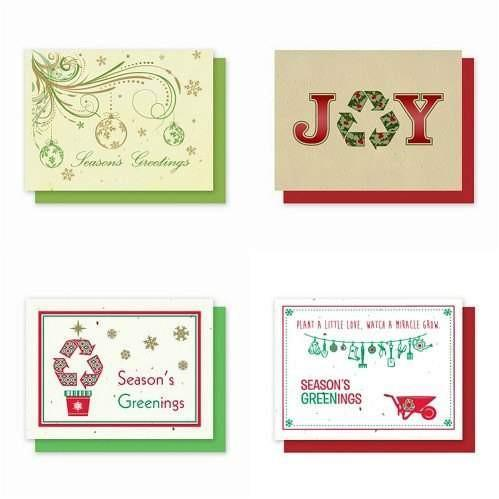 Holiday Plantable Greeting Cards Variety Pack 5 - Fine Gifts La Bella Basket Company