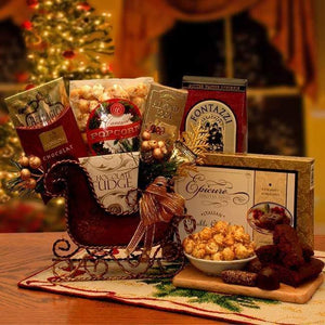 Holiday Sleigh - MED - Fine Gifts La Bella Basket Company