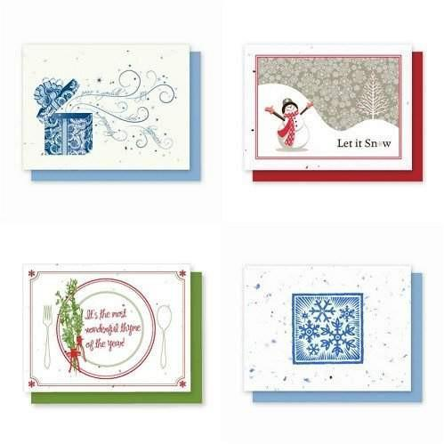 Holiday Variety Pack 3 - Plantable Greeting Cards - Fine Gifts La Bella Basket Company