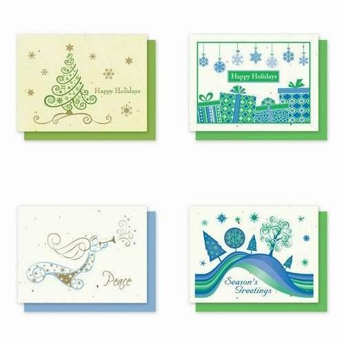 Holiday Variety Pack 4 - Plantable Greeting Cards - Fine Gifts La Bella Basket Company