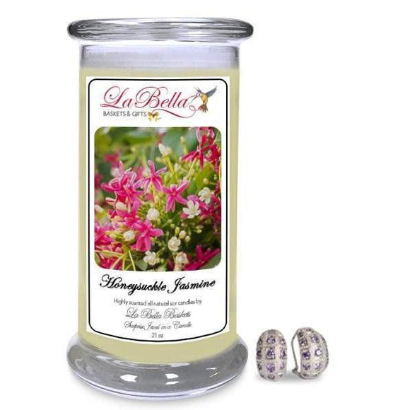 Honeysuckle Jasmine Scented Jewelry Candle - Fine Gifts La Bella Basket Company