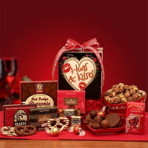 Hugs Kisses Gift Box - Fine Gifts La Bella Basket Company