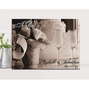 I Do Canvas Print - Fine Gifts La Bella Basket Company