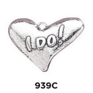 I Do! Heart Charm Sterling Silver - Fine Gifts La Bella Basket Company