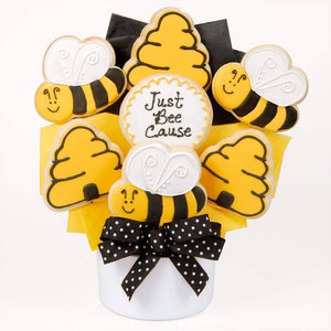 Just Bee Cause Cutout Cookie Bouquet - Fine Gifts La Bella Basket Company