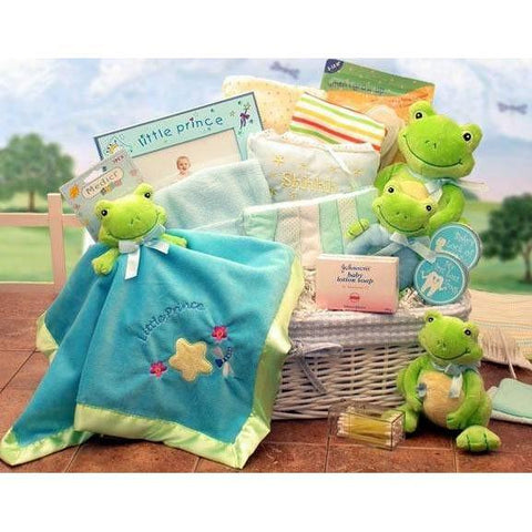Just Hoppin Baby Hamper Prince or Princess - MED - Fine Gifts La Bella Basket Company