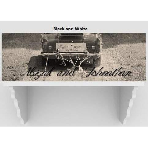 Just Married Canvas Print - Fine Gifts La Bella Basket Company