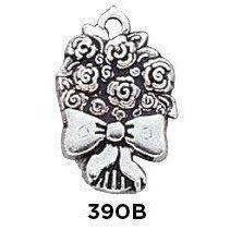 Large Bouquet Charm Sterling Silver .925 - Fine Gifts La Bella Basket Company