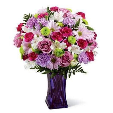 Lavender Burst Flower Bouquet - Fine Gifts La Bella Basket Company