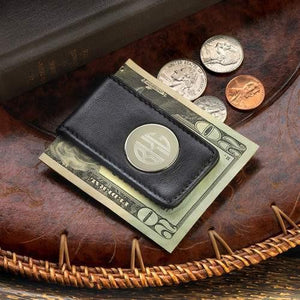 Leather Magnetic Money - Fine Gifts La Bella Basket Company