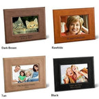 Leatherette Picture Frame - Dark Brown - Rawhide - Tan - Black