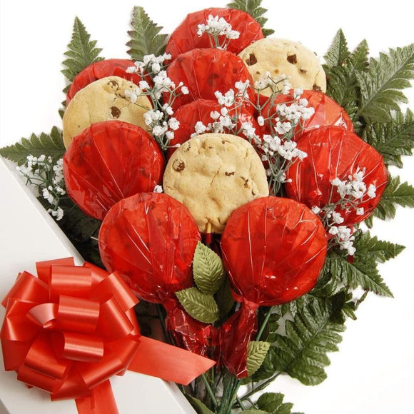 Luscious Longstems Boxed Cookie Bouquet - Fine Gifts La Bella Basket Company
