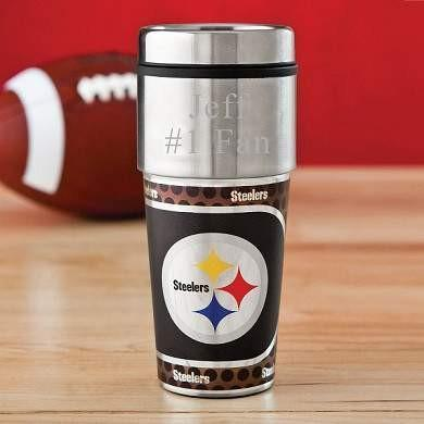 NFL Travel Tumbler with Metallic Wrap - Fine Gifts La Bella Basket Company