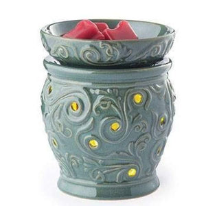 Ocean Side Glimmer Fragrance Candle Warmer - Fine Gifts La Bella Basket Company