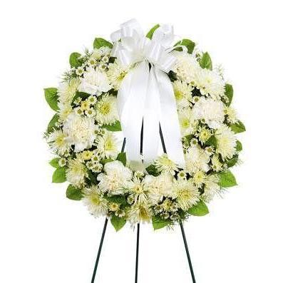 Open Wreath Floral Flower Spray - Fine Gifts La Bella Basket Company