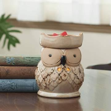 SOLD OUT Owl Fragrance Electric Candle Warmer - Fine Gifts La Bella Basket Company