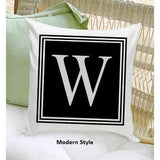 Personalized Initial Throw Pillow - Fine Gifts La Bella Basket Company