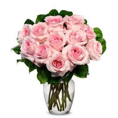 Pink Roses Flower Bouquet Saturday Delivery - Fine Gifts La Bella Basket Company