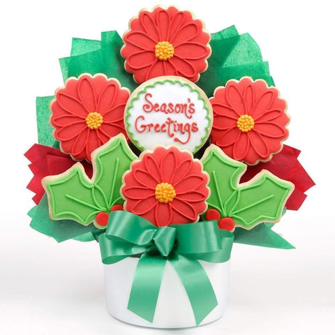 Poinsettia Cutout Bouquet - Fine Gifts La Bella Basket Company