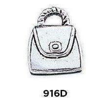 Purse Charm in .925 Sterling Silver - Fine Gifts La Bella Basket Company