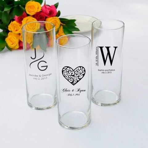 Reception Vase - Set of 6 - Design Set 2 - Fine Gifts La Bella Basket Company