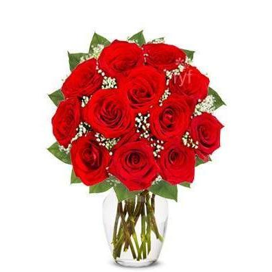 Red Roses Flower Bouquet Saturday Delivery - Fine Gifts La Bella Basket Company