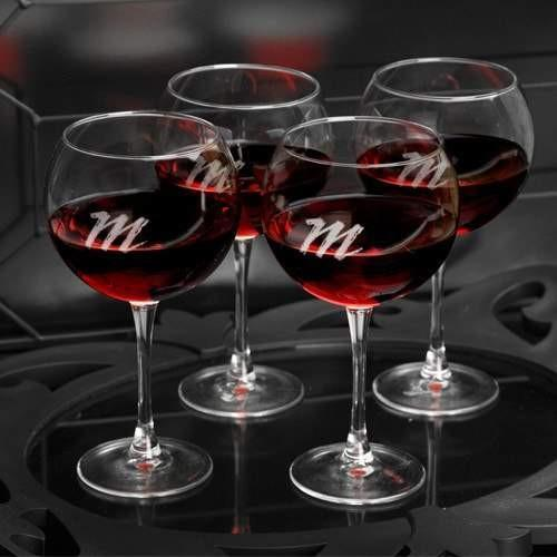 Red Wine Connoisseur Glasses- Set of 4 - Fine Gifts La Bella Basket Company