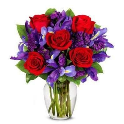 Ruby Rose Bouquet- Saturday Delivery - Fine Gifts La Bella Basket Company