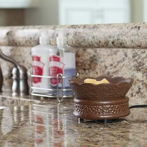Rustic Brown 2-in-1 Candle Warmer - Fine Gifts La Bella Basket Company