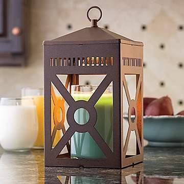 Rustic Brown Mission Lantern - Fine Gifts La Bella Basket Company