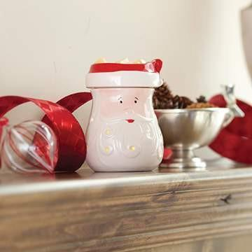 Santa Candle Warmer Illumination - Fine Gifts La Bella Basket Company