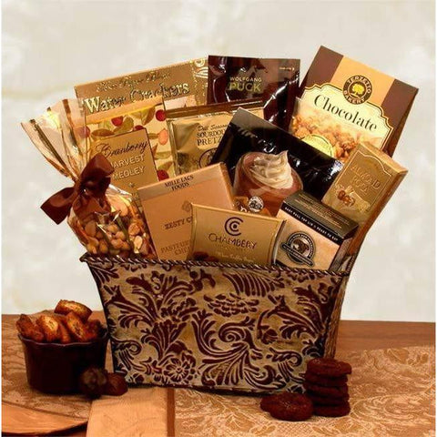 Savory Sophistication Gift Basket - Fine Gifts La Bella Basket Company