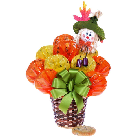 Scarecrow Basket Cookie Bouquet - Fine Gifts La Bella Basket Company