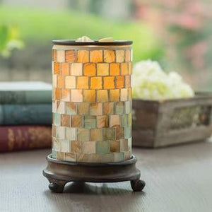 Sea Glass Candle Warmer - Fine Gifts La Bella Basket Company