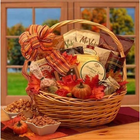 Shades of Fall Snack Gift Basket - Fine Gifts La Bella Basket Company