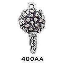 Small Bouquet Charm Sterling Silver .925 - Fine Gifts La Bella Basket Company
