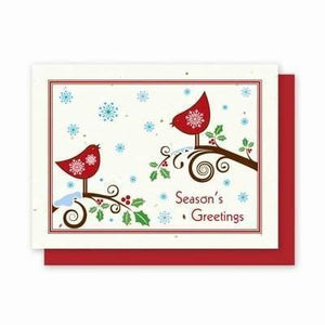 Snow Birds Plantable Greeting Cards - 5 Pack - Fine Gifts La Bella Basket Company