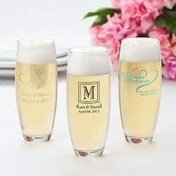 Stemless Printed Champagne Flutes - 24 Piece Set - Designs Page 3 - Fine Gifts La Bella Basket Company