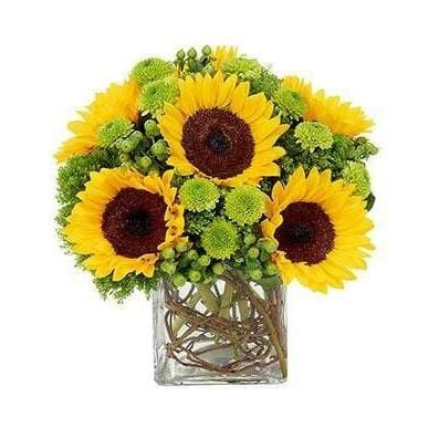 Sunflowers Bouquet Flower Arrangement - Fine Gifts La Bella Basket Company
