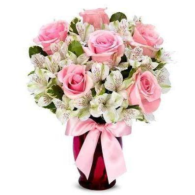 Sweet as Pink Flowers - Same Day Delivery - Fine Gifts La Bella Basket Company