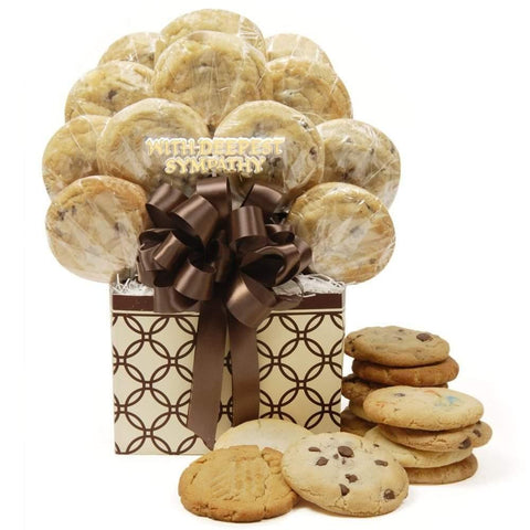 Sympathy Cookie Bouquet - Fine Gifts La Bella Basket Company