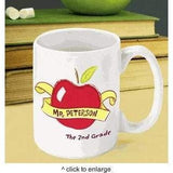 Teacher Coffee Mug - 11 Designs - Apples, Music and More - Fine Gifts La Bella Basket Company