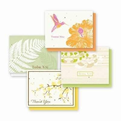 Thank You Naturals Variety Plantable Greeting Cards - 4 Pack - Fine Gifts La Bella Basket Company